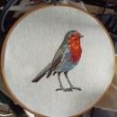 Mi Proyecto del curso: Pintar con hilo: técnicas de ilustración textil. Un proyecto de Bordado de katia anaya - 05.02.2020