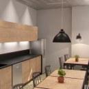SAINT-GOBAIN - OFFICE - DISEÑO DE INTERIORES Y 3D. Un proyecto de 3D, Arquitectura interior, Diseño de interiores, Modelado 3D, Decoración de interiores, Arquitectura digital, Diseño 3D e Interiorismo de Andrea Rodríguez Fornieles - 30.08.2019