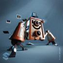 InstaBot. Un proyecto de 3D, Diseño de personajes, Rigging, Modelado 3D, Diseño de personajes 3D, Diseño 3D y Diseño digital de Luis Miguel Maldonado Redondo - 08.02.2020