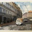 Mi Proyecto del curso: Paisajes urbanos en acuarela. Un proyecto de Bellas Artes de ivanor - 13.02.2020