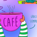 Café .... Un proyecto de Ilustración, Ilustración digital e Ilustración infantil de alehueso99 - 17.02.2020