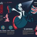 Concierto de Música Folk (Experiencias Airbnb). Un proyecto de Ilustración, Diseño editorial y Diseño gráfico de Eduardo Pantle - 15.02.2020