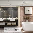 DISEÑO MASTER BATHROOM  : Diseño de interiores para espacios multifuncionales. Um projeto de 3D, Design de móveis, Arquitetura de interiores, Design de interiores e Arquitetura digital de abel gomez - 23.02.2020