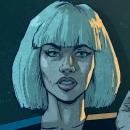 Ilustraciones cyberpunk. Un proyecto de Ilustración, Diseño de personajes, Bellas Artes, Cómic, Dibujo, Ilustración digital, Concept Art y Brush painting de Ibán Sierra Caballero - 02.03.2020