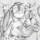 La visita de la banda/Microrelato silente. Un proyecto de Diseño editorial, Ilustración e Ilustración infantil de Paula Bossio - 01.06.2017