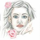 Meu projeto do curso: Retrato ilustrado em aquarela. Un proyecto de Ilustración, Dibujo, Ilustración de retrato y Dibujo de Retrato de Mauricia Ribeiro - 04.03.2020