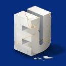 Slanted 'EU' Artwork. Um projeto de Ilustração e Lettering digital de Birgit Palma - 13.03.2020