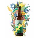 Cartel publicitario para Cerveza El Camino (Santander). A Illustration, Vector Illustration, and Digital illustration project by Alvaro García Rodríguez - 03.07.2020