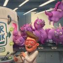 Air Funk Odor Remover. Um projeto de Design de personagens, Ilustração e Publicidade de Sergio Edwards - 17.03.2020