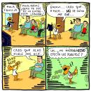 Mi Proyecto del curso: Humor gráfico: danos la tira nuestra de cada día. Um projeto de Humor gráfico de Esteban Noboa - 23.03.2020
