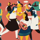 68 Voces. Mixe. El Rey Kong Oy. . Um projeto de Ilustração de Estelí Meza - 01.12.2018