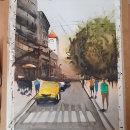 Mi Proyecto del curso: Paisajes urbanos en acuarela. Un proyecto de Bellas Artes de Almudena Alcover - 24.03.2020