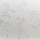 Examen de la Selectividad - Movimiento Gestual . A Pencil drawing, and Artistic drawing project by Natalia Osuna Pérez - 03.24.2020