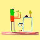 Mi Proyecto del curso: la media naranja y Ramiro medio mugroso. Um projeto de Escrita e Ilustração de María Florencia Evdemon - 25.03.2020