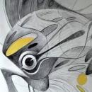 Bestia-pez sobre banco. Un proyecto de Bellas Artes, Diseño de interiores y Dibujo a lápiz de JORGE LEWIS - 26.03.2020