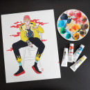 Experimento con Gouache. A Illustration, Painting, Portrait illustration, and Brush painting project by Mónica Lemus - 03.29.2020