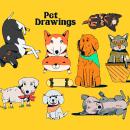 Pet drawings - Ilustracion en Procreate. A Digitale Illustration und Instagram project by Jim Palacio - 30.03.2020