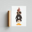 Ilustración Pulp Fiction. A Illustration, Vector Illustration, Digital illustration, and Portrait illustration project by Guillermo García - 03.31.2020