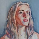 Retrato artístico en acuarela: retrato 1. Um projeto de Pintura em aquarela de esmolkac - 30.03.2020