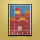 Cartel Cuentos Atléticos. A Poster Design project by Delma Álvarez - 04.01.2020