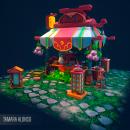 Modelado 3D tienda asiatica. Un proyecto de 3D y Modelado 3D de Tamara Alonso Guerra - 01.04.2020