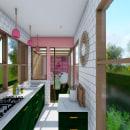 Vivienda en Contenedores. Um projeto de Arquitetura, 3D Design e Design de interiores de Andrea Rubio Jaramillo - 03.04.2020