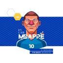 Soccer legends. Un proyecto de Diseño, Ilustración, Diseño de personajes y Dibujo de Retrato de Edgar Rozo - 04.04.2020