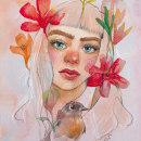Mi Proyecto del curso: Retrato ilustrado en acuarela. Um projeto de Desenho de Retrato, Ilustração de retrato e Pintura em aquarela de uxueazkonailustracion - 06.04.2020