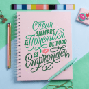 Crear, aprender, emprender. A H, Lettering, and Lettering project by Caro Marando - 04.07.2020