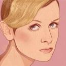 Twiggy. Um projeto de Ilustração, Artes plásticas, Ilustração digital, Ilustração de retrato, Desenho realista e Desenho digital de Judith González - 08.04.2020