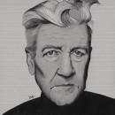 David Lynch. Um projeto de Ilustração, Ilustração digital, Ilustração de retrato, Desenho de Retrato e Desenho digital de Judith González - 08.04.2020