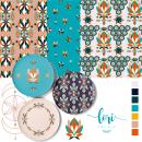 Mi Proyecto del curso: Creación y comercialización de patterns vectoriales. Um projeto de Design, Ilustração, Pattern Design, Ilustração vetorial, Ilustração digital e Ilustração têxtil de Lori Artista - 10.04.2020