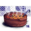 Pota de Cocido. Un proyecto de Ilustración, Dibujo e Ilustración digital de Rojo Martínez - 10.04.2020