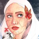 Mi versión del retrato ilustrado en acuarela.. Um projeto de Ilustração de retrato de sandra98hate - 10.04.2020