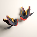 SWALLOWS. A Design, Illustration, 3D, 3d modeling, and Design 3D project by Paco Lopez - 04.13.2020