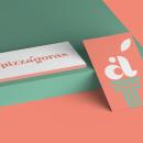 PIZZÁGORAS - Logo e identidad. Um projeto de Design gráfico de Manuel Perujo - 13.04.2020