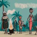 Mi Proyecto del curso: Fábrica de personajes ilustrados. Un proyecto de Ilustración digital de Paz Ramos Reyes - 14.04.2020