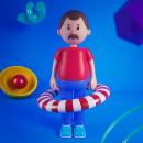 Mi Proyecto del curso: Diseño de personajes en Cinema 4D: del boceto a la impresión 3D. Um projeto de Design, 3D, Design de personagens, Retoque fotográfico, Design de personagens 3D e 3D Design de Junior Pabon - 14.04.2020