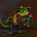 SLAY: The roosters hunter. Un proyecto de Ilustración, Dirección de arte, Diseño de personajes, Ilustración digital y Concept Art de Camilo Ducuara Gordillo - 17.04.2020