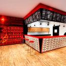 Diseño de interiores para restaurantes: Sirwisaquer Ancestral Pub. Um projeto de Arquitetura, Design e Ilustração Arquitetônica de Andrea Rubio Jaramillo - 21.04.2020