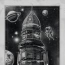 """""""Atlantis House"""". Un projet de Illustration, Dessin au cra, on, Dessin, Illustration numérique, Dessin réaliste , et Dessin artistique de Miguel Pérez García - 23.04.2020"""