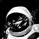 Astronautas. Un projet de Brush painting et Illustration de Mika Takahashi - 24.04.2017