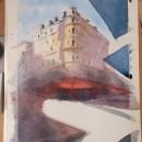 Mi Proyecto del curso: Dibujo arquitectónico con acuarela y tinta. Un proyecto de Pintura a la acuarela de Almudena Alcover - 29.04.2020