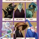 Six fanarts. Um projeto de Ilustração, Design de personagens, Desenho, Ilustração digital, Ilustração infantil, Desenho digital e Pintura digital de Rafa Gámez - 30.04.2020