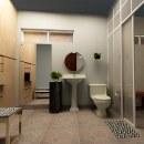 Diseño de interiores BAÑO. Un proyecto de Diseño, 3D, Arquitectura interior, Diseño de interiores, Decoración de interiores y DIY de Lu Menss - 01.05.2020