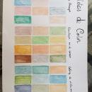 Mi Proyecto del curso: Creación de paletas de color con acuarela. Um projeto de Pintura em aquarela de Maria Eugenia Dudok Gonnet - 01.05.2020