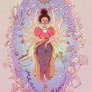 La Maternidad y el Teletrabajo en tiempos del coronavirus. Um projeto de Ilustração de alicia borges - 04.05.2020