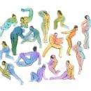 Mi Proyecto del curso: Dibujo anatómico para principiantes. Um projeto de Ilustração, Esboçado, Ilustração de retrato e Ilustração têxtil de Esmeralda Barrón Padilla - 07.05.2020