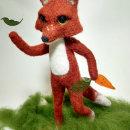 Zorrito rojo. Um projeto de Artesanato, Design de personagens e Ilustração digital de Aranza Serafin - 09.05.2020