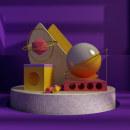 Mi Proyecto del curso: Composiciones abstractas con Cinema 4D. Um projeto de Design, 3D, Direção de arte, Modelagem 3D, Design de personagens 3D e 3D Design de Junior Pabon - 10.05.2020